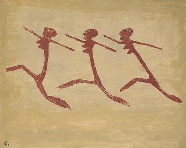 Native women performing a vigorous dance