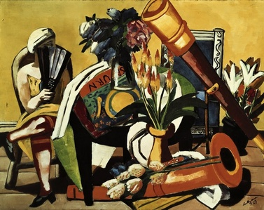 Large Still Life with Telescope