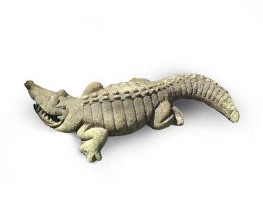 David Gilhooly Life Size Concrete Alligator Sculpture