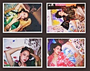 Four (4) Unique Portraits of Vietnamese Concert Pianist Chau-Giang Thi Nguyen (Signed)