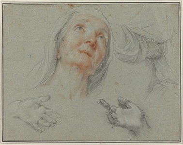 "Studies for Saint Anne in ""Education of the Virgin"""