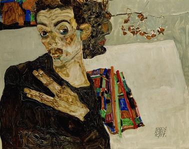 Selbstportrait mit gespreizten Fingern (Self-Portrait with Spread Fingers)
