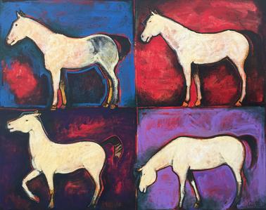 Four Warrior Ponies