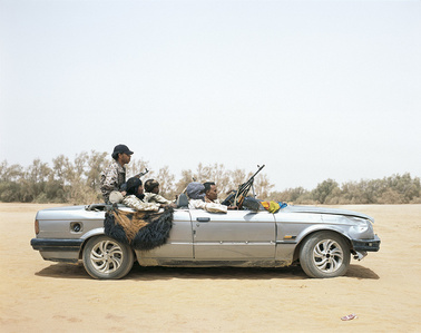 Ubari, Southern Libya, 2015. Tuareg tribal militia group vehicle.
