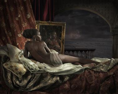 Reclining nude at sea