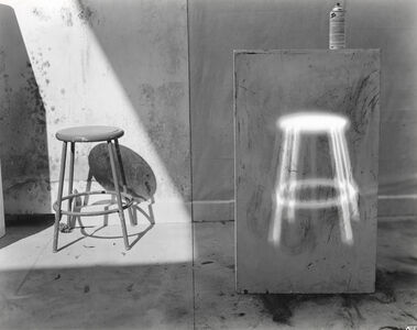 Quick Shift of the Head Leaves Glowing Stool Afterimage on Pedestal
