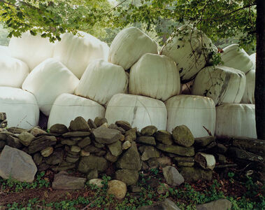 Hay Bales and Stone Wall, Plainfield, MA