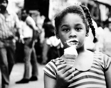 Untitled (young girl with ice cream cone)