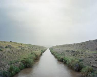 Irrigation canal. Tajikistan.