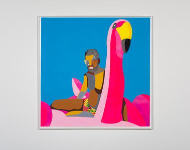 Floater 49 (flamingo)