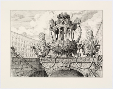 Design for a cake basket and two muffineers en-suite III