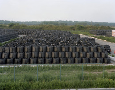 Storage of nuclear contaminated materials, Route 6, Fukushima (former Exclusion Zone opened in April 2013)