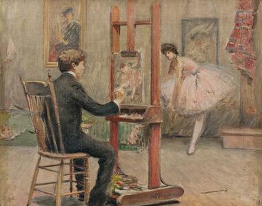 Louis Kronberg in his Studio