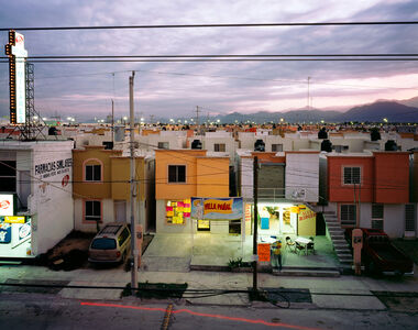 From the series Fragmented Cities, Business in newly built suburb in Juarez