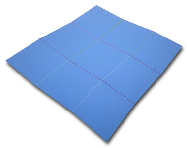 Grand ondoyant bleu ref. 40