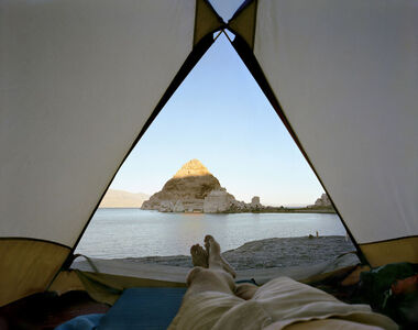 View From The Tent At Pyramid Lake, Nevada
