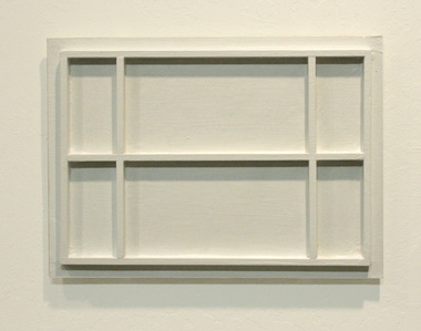 Untitled ( white painting with frame work)