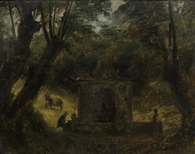 A Fountain in a Wooded Landscape