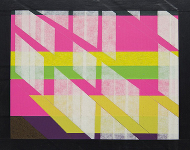 Untitled with Pink, Yellow and Green