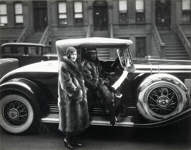 Couple with a Cadillac. Harlem.