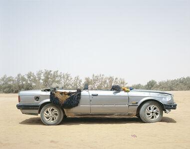 Ubari, Southern Libya, 2015. Tuareg tribal militia group vehicle.