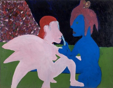 Adoration (Pink and Blue Figures)