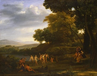 Landscape with Dancing Satyrs and Nymphs