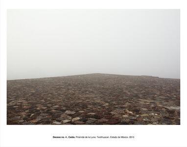"""Deceso no. 4, Caída. Pirámide de la Luna. Teotihuacán. Estado de México (from the series """"Forensic Documents"""")"""