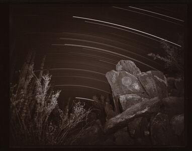 Petroglyphs and Star Trails, Sonara, Mexico