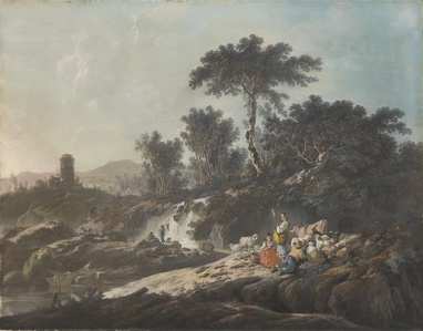Shepherds Resting by a Stream