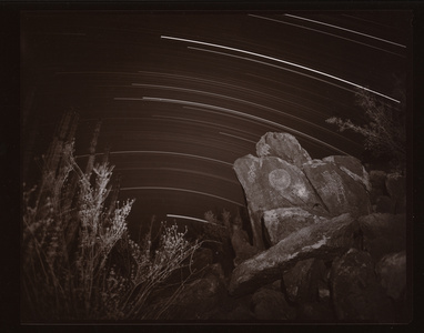 Petroglyphs and Star Trails, Sonara, Mexico