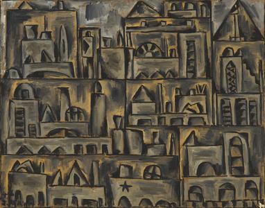 Paisaje urbano en gris
