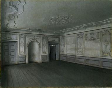 Vilhelm Hammershøi, Interior of the Great Hall in Lindegaarden