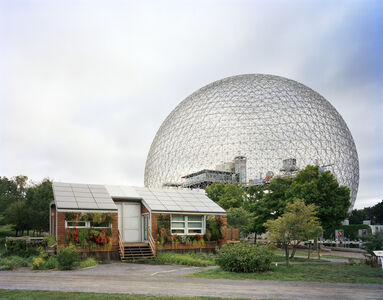 """Montreal 1967 World's Fair, """"Man and His World,"""" Buckminster Fuller's Geodesic Dome With Solar Experimental House"""