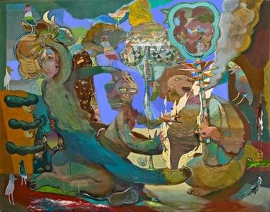 The Battle of Taper Ledge 153cm x 120cm,