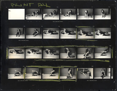 "Carly Simon, ""Playing Possum"" Album Cover (Contact Sheet)"