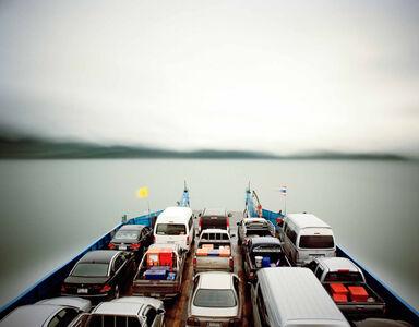 Ferry, 1 hour exposure, ko-chang, Thailand