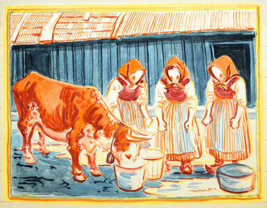 Three Women and a Cow (Tre Kvinnor Med Kossa)