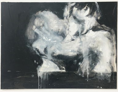Study for Black and White Kiss
