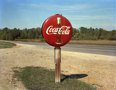 Coca-Cola Sign on Highway, US 78, Burnsville, Mississippi