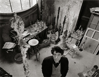 Alberto Giacometti dans son atelier (Alberto Giacometti in his atelier)