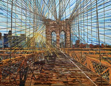 Sunburst over Brooklyn Bridge