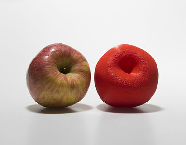 A Red Apple and Its Clone