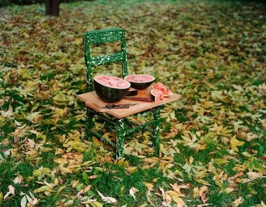Watermelon and Chair, W. Suffield, Connecticut, 1982