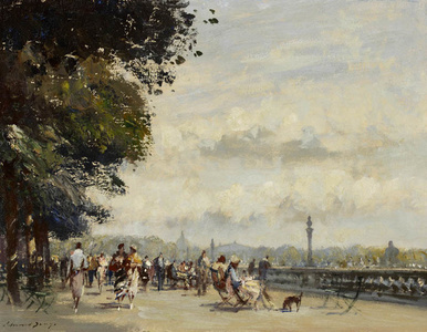 Along the Seine, The Wide Terrance, Tuileries Garden