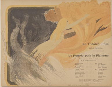 Program for Le Théatre Libre's production of The Smoke, then the Flame