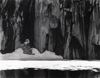 Ice and Cliffs, Kawea Gap (Frozen Lake and Cliffs, Sequoia National Park