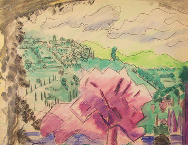 Untitled (Landscape with Cubist Tree)