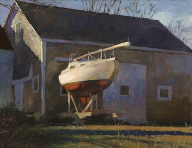 Sailboat and Barn