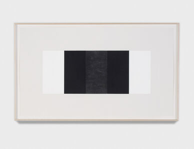 Untitled (Black vertical Band, Black Outer Bands)